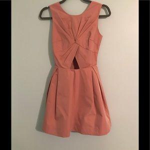 Nasty Gal Dusty Cutout Pink Taffeta Dress Size XXS